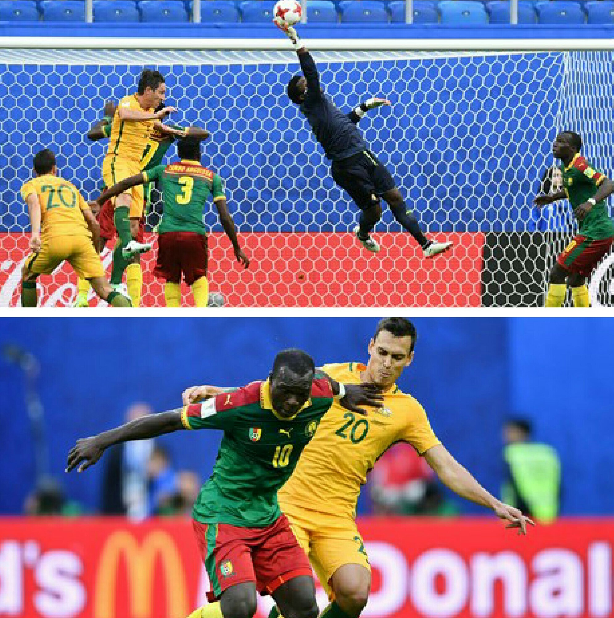 Confed. Cup: Cameroon, Australia Share The Spoils In 1-1 Draw