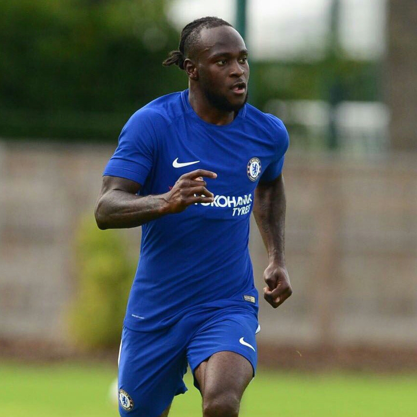 Moses Celebrates Return To Action With Chelsea