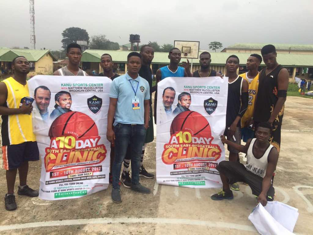 Kanu Stages Basketball Clinic In Owerri, Flies In American Coaches