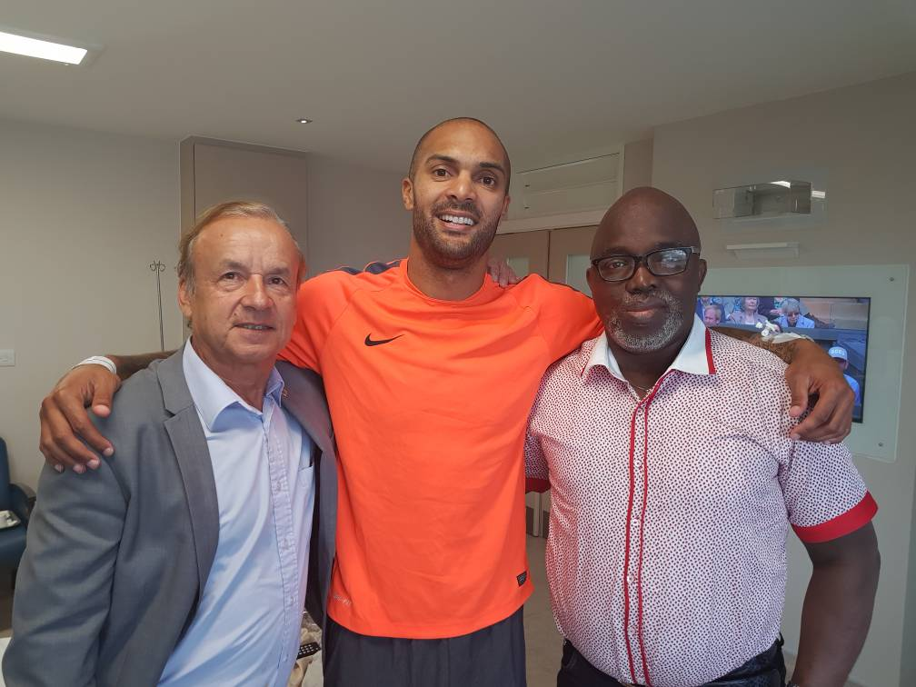 Rohr, Pinnick Visit Ikeme, Moses In London