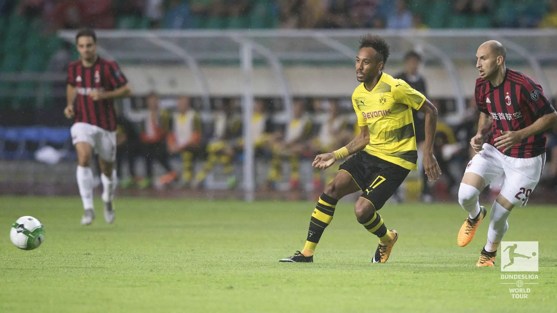 Aubameyang Fires Dortmund Past Milan In ICC Clash