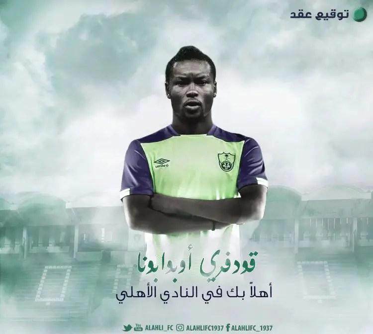 Oboabona Joins Saudi Arabian Club Al Ahli Jeddah