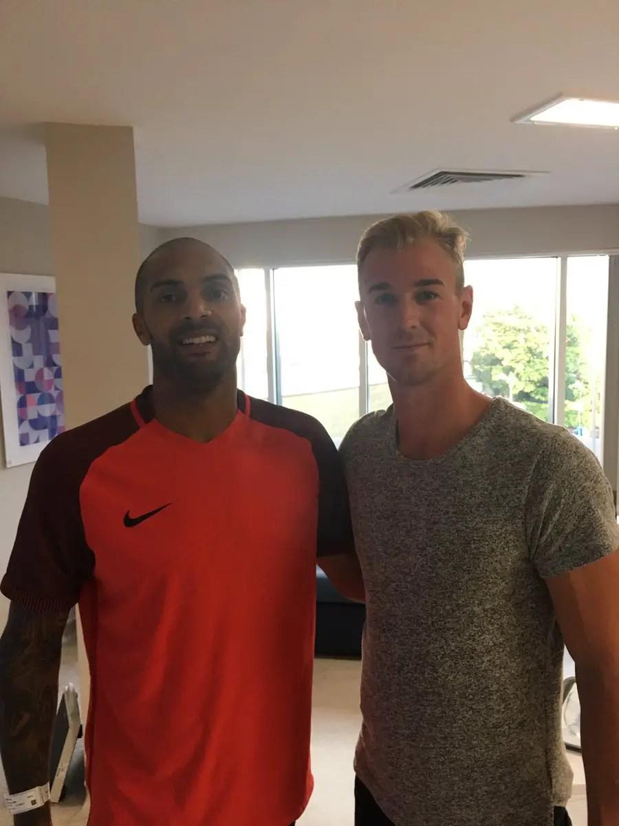 Man City Goalie Hart Visits Ikeme In Hospital, Shows Support