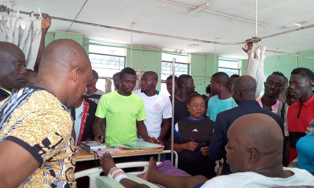 3SC Players, Officials Visit Injured Chairman Busari In Hospital