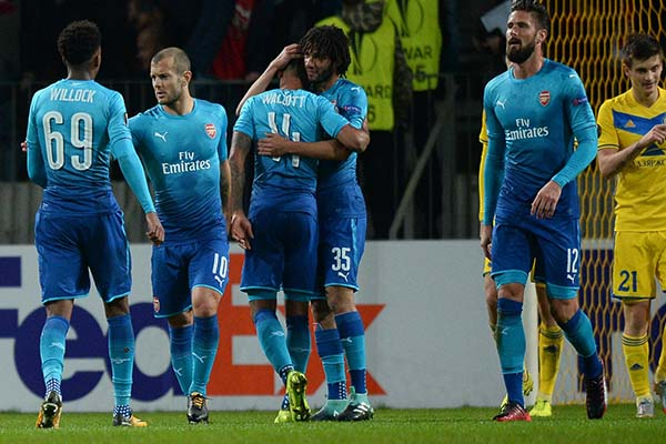 Europa: Giroud Scores Milestone Goal In Arsenal Win; Nwakaeme On Target, Ogu In Action