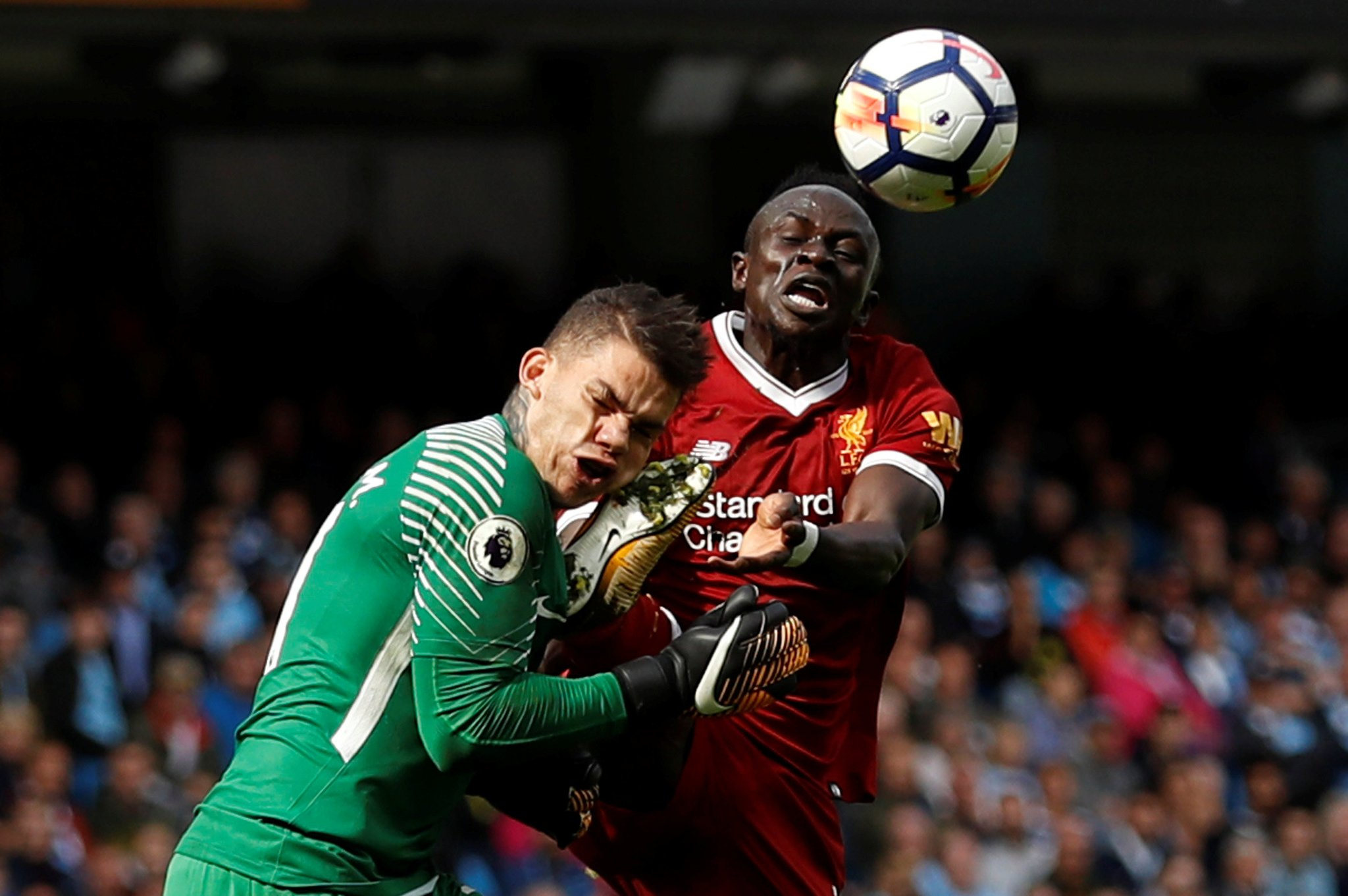 Liverpool's Mane Regrets Ederson Incident But Insists He'll Do It Again