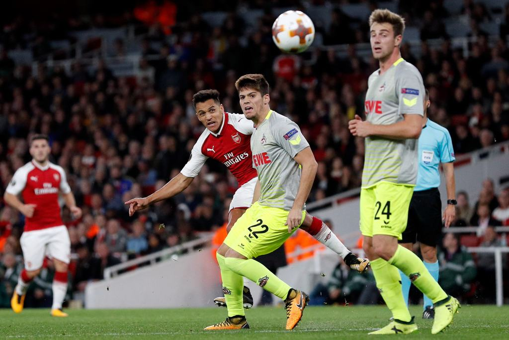 Europa League: Iwobi In Action As Sanchez Fires Arsenal Past Cologne