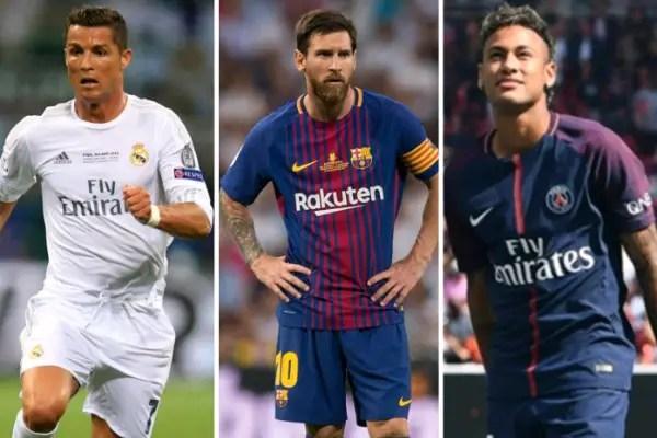 Ronaldo, Messi, Neymar Vie For The Best FIFA Men's Award