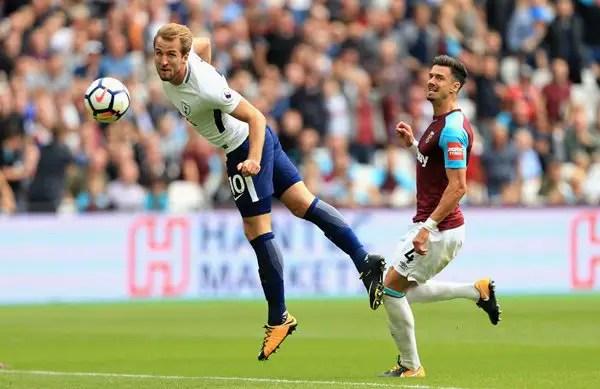 Kane Hits Brace As 10-Man Tottenham Survive West Ham Scare