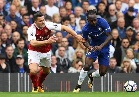 Moses, Iwobi Shine, Luiz Sent Off As Chelsea, Arsenal Draw