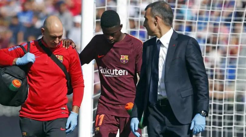 Barcelona Confirm Dembele Hamstring Injury In First La Liga Start