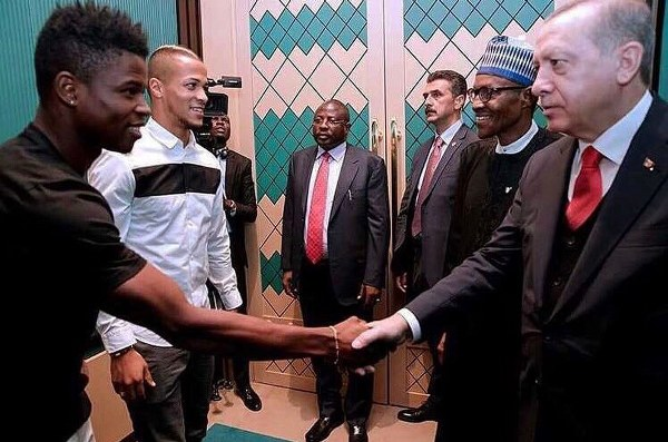Troost-Ekong, Agu 'Honoured' To Meet President Buhari In Turkey