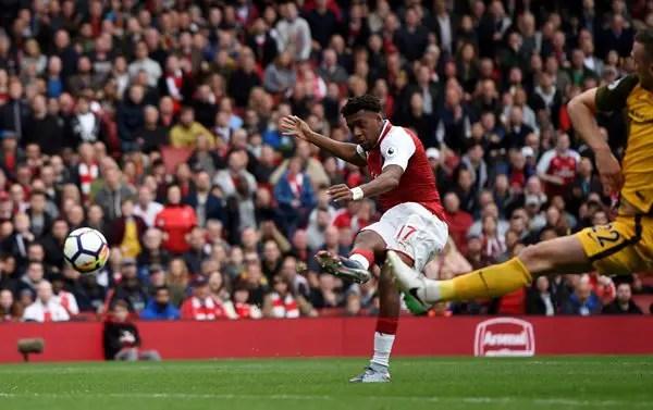 Iwobi Fires Zambia Warning With Arsenal Goal Vs Brighton