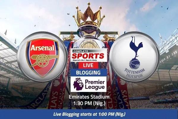 LIVEBLOGGING: Arsenal vs Tottenham