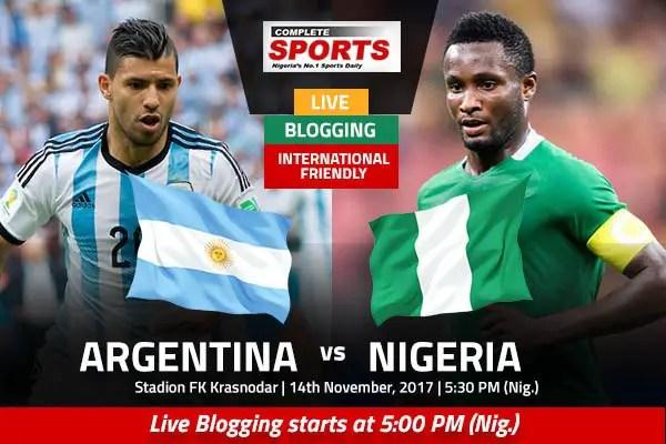 ARGENTINA vs NIGERIA: Join Complete Sports Liveblog From Krasnodar, Russia At 5pm