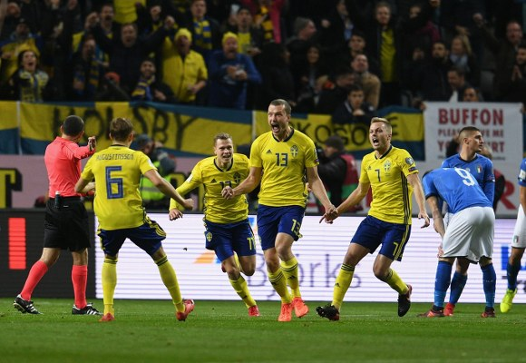 Sweden Edge Italy In World Cup Play-offs First Leg