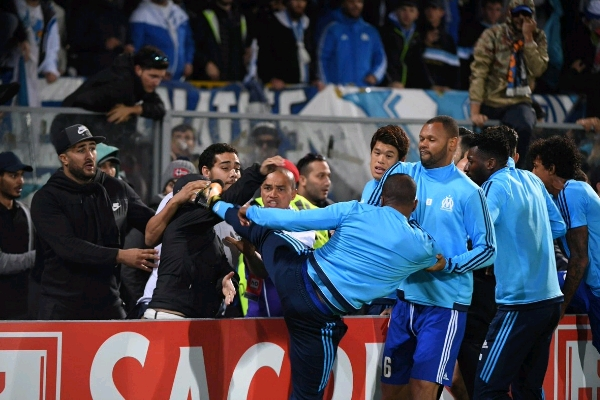 Marseille Suspend Evra For Kicking Out At Fan