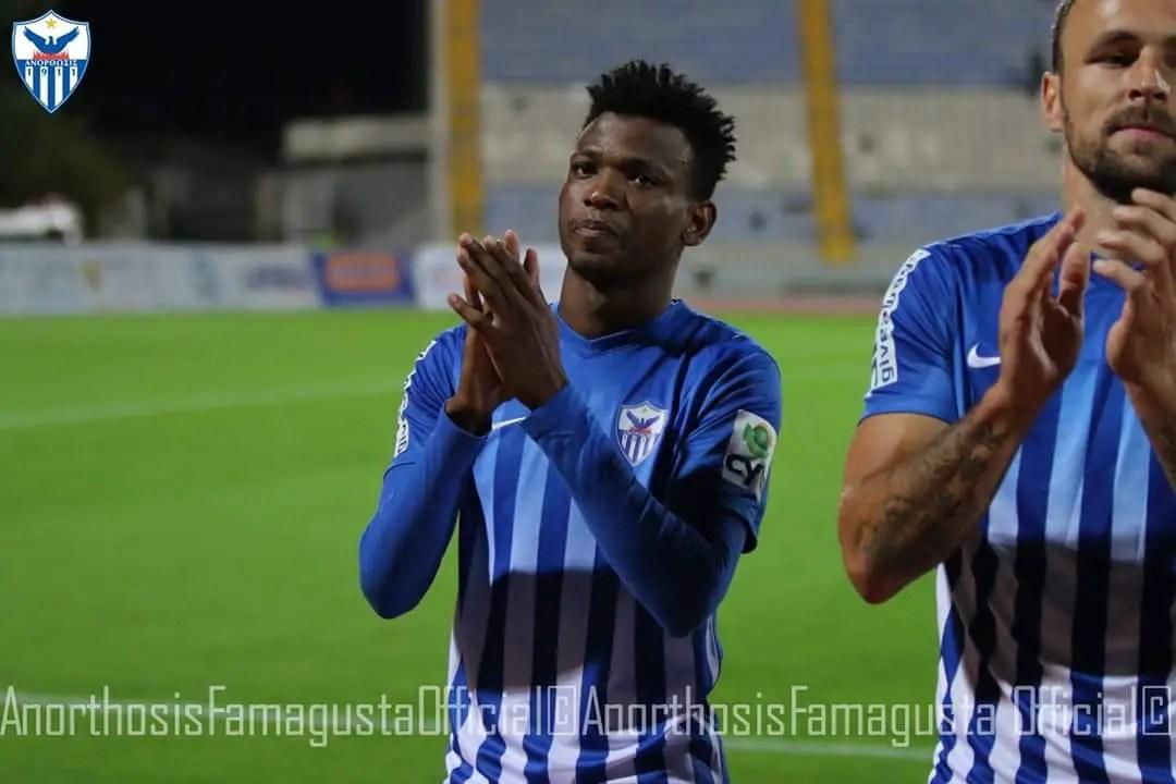 Abdullahi In Action As Apoel Nicosia End Anorthosis' Unbeaten League Run