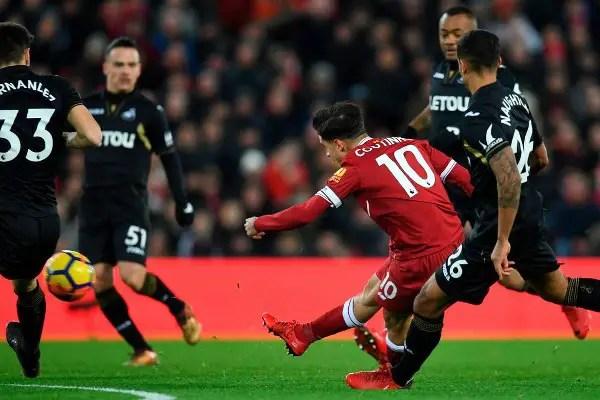 Liverpool Thrash Swansea, Return To EPL Top Four