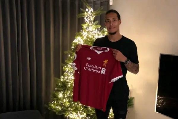 Liverpool Confirm £75m Van Dijk Deal, Dutchman Gets No.4 Jersey
