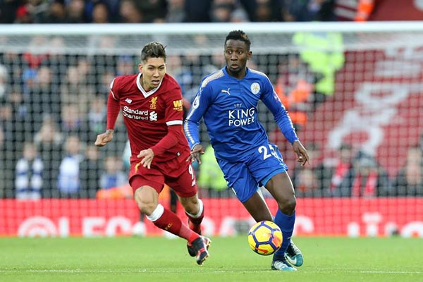 Ndidi Rated The Most Outstanding Leicester Player In Defeat At Liverpool