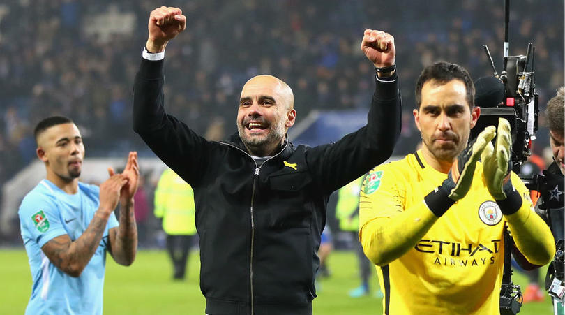 Guardiola Dismisses Talk Of Manchester City Winning Quadruple