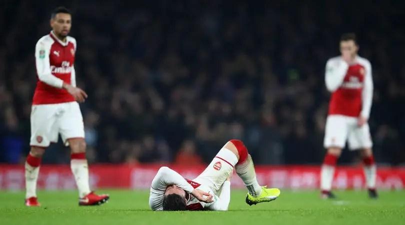 Wenger Reveals Giroud's Hamstring Injury, Set For Scan On Thursday