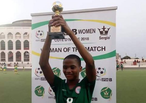 WAFU Women's Cup: Falcons Hat-trick Heroine Ajibade Named Best Player Vs Senegal