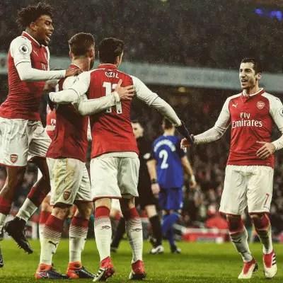 Iwobi Thrilled With Arsenal Destruction Of Everton; Praises Aubameyang, Mkhitaryan
