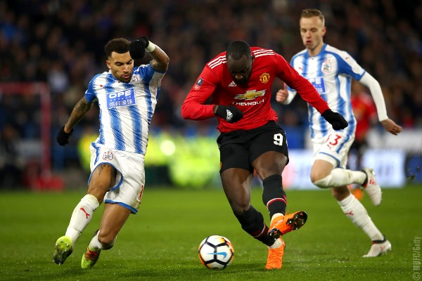 Lukaku Hits Brace As United Ease Past Huddersfield Into FA Cup Quarter-Finals