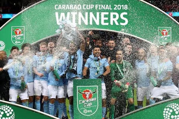 Iheanacho Celebrates Man City League Cup Final Win Vs Arsenal