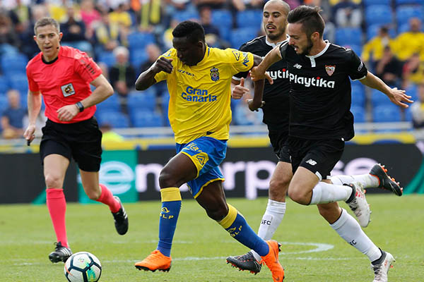 Ezekiel Makes LaLiga Debut, Etebo In Action As Las Palmas Lose To Sevilla