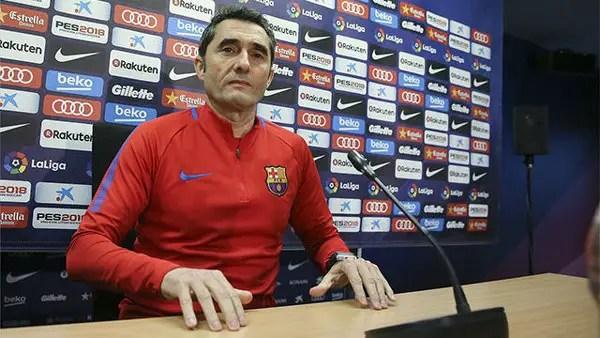 Barcelona Coach Valverde Expects Tough Battle Vs Ideye's Malaga