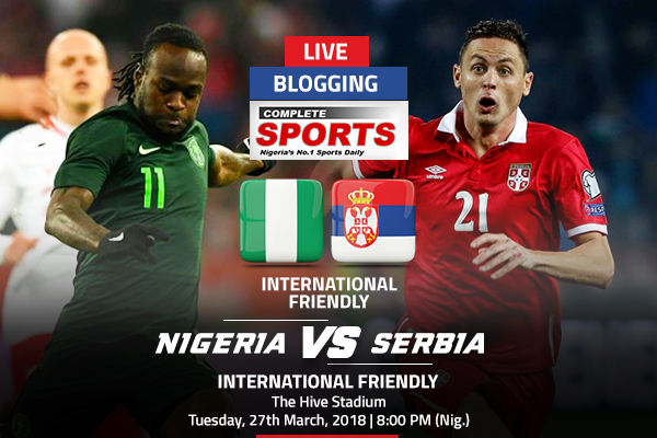 LIVEBLOGGING: NIGERIA VS SERBIA