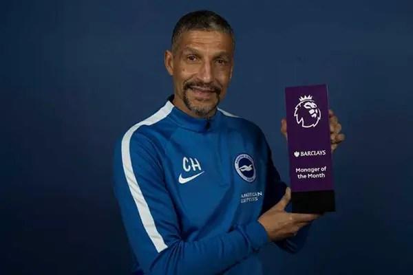 Brighton Boss Hughton Beats Klopp, Pochettino To February MOTM Award; Spurs' Wanyama Bags Goal Of The Month