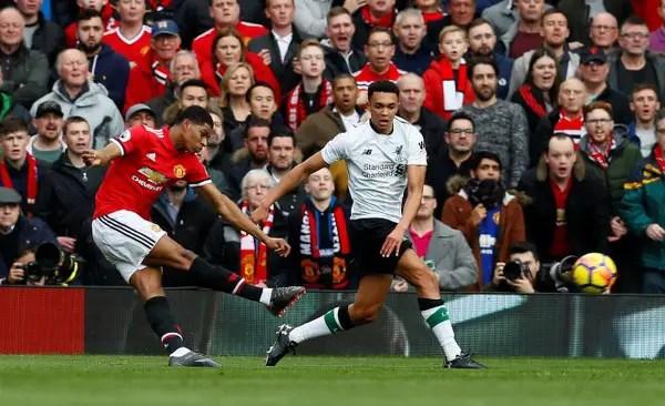 Rashford Hits Brace As Man United Beat Liverpool To Stay Second