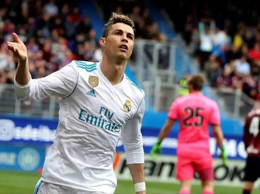 Red-Hot Ronaldo Fires Real Madrid Past Eibar