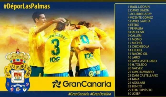 Etebo, Ezekiel In, Emenike Out Of Las Palmas Squad To Face Deportivo