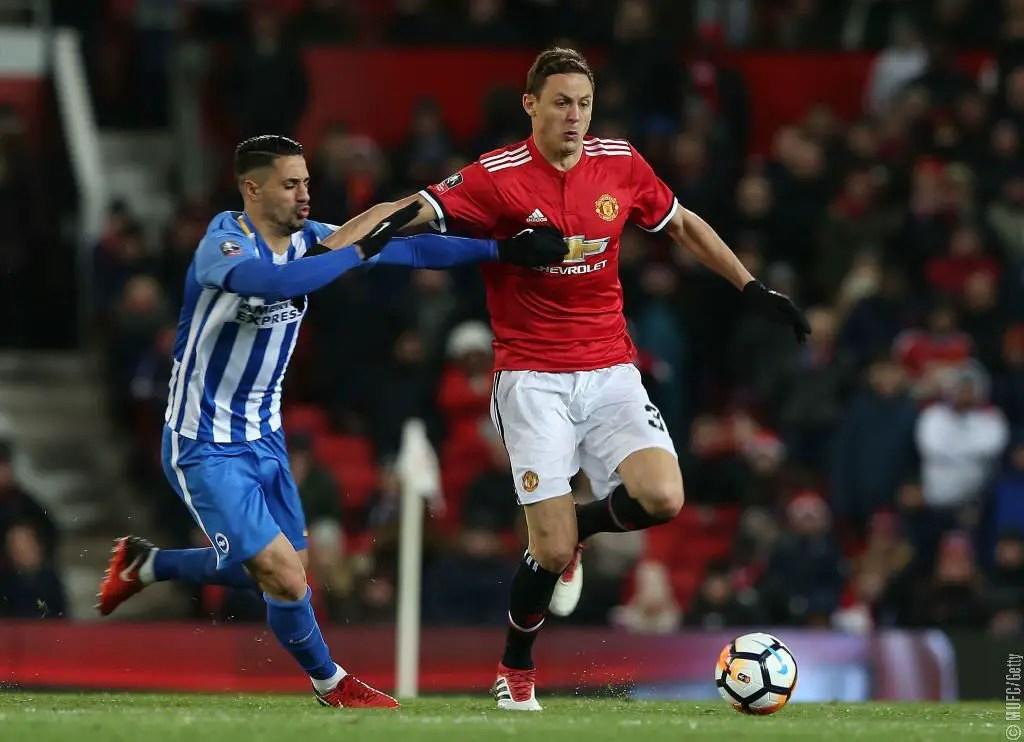 Lukaku, Matic Head Man United Past Brighton Into FA Cup Semi-Finals