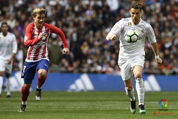 Ronaldo, Griezmann On Target As Atletico Hold Real Madrid
