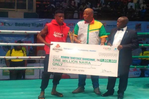 GOtv Boxing: Babatunde Wins Best Boxer Award,  ₦1m Cash Prize