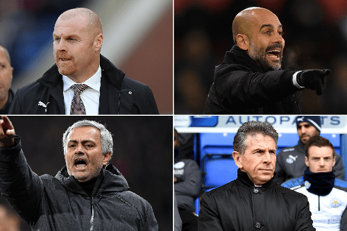 Mourinho, Guardiola, Puel, Dyche Up For EPL March Best Manager Award