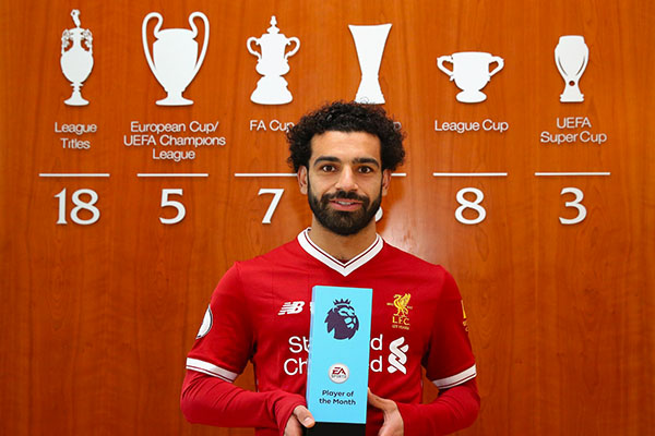Salah Wins EPL March Best Player Award, Dyche Is Best Manager