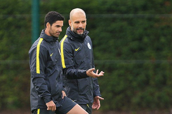Guardiola Unaware Of Arsenal Interest In Arteta As City Chase EPL Records