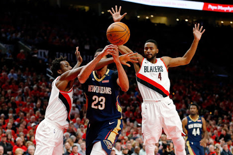 NBA Play-Offs: D'Tigers' Aminu Stars As Blazers Lose To Pelicans