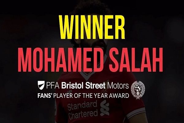 Salah Bags 5th MVP Award Of The Season: The PFA Fans' Player Of Year