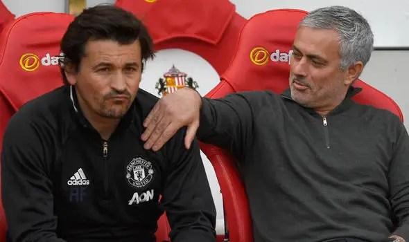 Mourinho Backs Man United Assistant Coach Faria For Arsenal Job