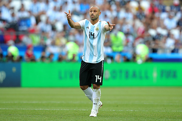 Mascherano Quits International Football After World Cup Exit