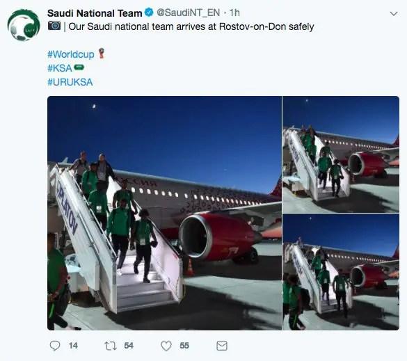 Russia 2018: Saudi Arabia Players Survive Plane Accident Scare