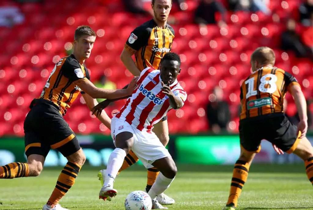 Etebo Celebrates Stoke City's First Win Of The Season Vs Hull City